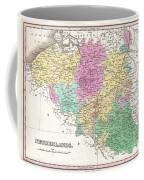 1827 Finley Map Of Belgium And Luxembourg Coffee Mug