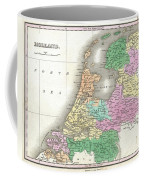 1827 Finley Map Of Holland Or The Netherlands Coffee Mug