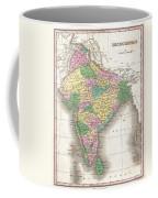 1827 Finley Map Of India  Coffee Mug