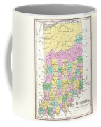 1827 Finley Map Of Indiana Coffee Mug