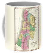 1827 Finley Map Of Israel  Palestine Holy Land Coffee Mug