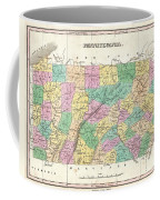 1827 Finley Map Of Pennsylvania Coffee Mug