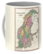 1827 Finley Map Of Scandinavia Norway Sweden Denmark Coffee Mug