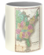 1827 Finley Map Of The United States Coffee Mug