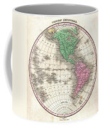 1827 Finley Map Of The Western Hemisphere Coffee Mug