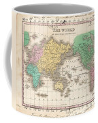 1827 Finley Map Of The World Coffee Mug