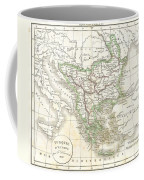 1832 Delamarche Map Of Greece And The Balkans Coffee Mug