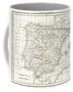 1832 Delamarche Map Of Spain And Portugal Under The Roman Empire  Coffee Mug