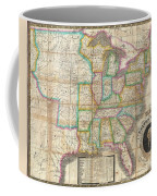 1835 Webster Map Of The United States Coffee Mug