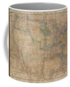 1839 Burr Wall Map Of The United States  Coffee Mug