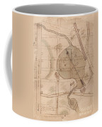 1840 Manuscript Map Of The Collect Pond And Five Points New York City Coffee Mug