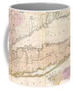 1842 Mather Map Of Long Island New York Coffee Mug by Paul Fearn