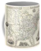 1851 Tallis And Rapkin Map Of The United States Coffee Mug