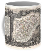 1852 Levasseur Map Of The Department Du Var France  French Riviera Coffee Mug