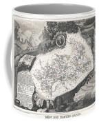 1852 Levasseur Map Of The Department Hautes Alpes France  Coffee Mug