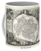 1852 Levasseur Map Of The Department L Allier France  Saint Pourcain Wine Region Coffee Mug