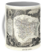1852 Levasseur Map Of The Department L Aude France Coffee Mug