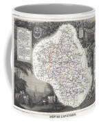 1852 Levasseur Map Of The Department L Aveyron France Roquefort Cheese Region Coffee Mug