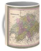 1853 Mitchell Map Of Switzerland  Coffee Mug