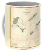 1853 Us Coast Survey Chart Or Map Of St Georges Sound Florida Coffee Mug