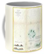1853 Us Coast Survey Map Or Chart Of Sow And Pigs Reef Off Marthas Vineyard Massachussetts Coffee Mug