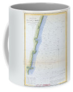1853 U.s.c.s. Map Of The Virginia Coast Coffee Mug