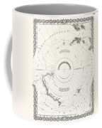 1855 Colton Map Of Antarctica The South Pole Or The Southern Polar Regions Coffee Mug