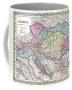 1855 Colton Map Of Austria Hungary And The Czech Republic Coffee Mug