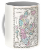 1855 Colton Map Of Denmark Coffee Mug