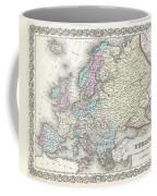 1855 Colton Map Of Europe Coffee Mug