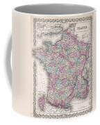 1855 Colton Map Of France Coffee Mug