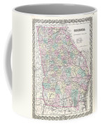 1855 Colton Map Of Georgia Coffee Mug