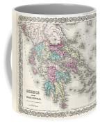 1855 Colton Map Of Greece  Coffee Mug