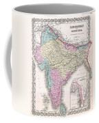 1855 Colton Map Of India Coffee Mug