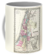 1855 Colton Map Of Israel Palestine Or The Holy Land Coffee Mug