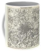 1855 Colton Map Of London Coffee Mug