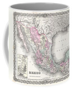 1855 Colton Map Of Mexico - Geographicus1855 Colton Map Of Mexico - Geographicus Coffee Mug