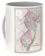 1855 Colton Map Of New Jersey Coffee Mug