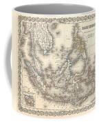 1855 Colton Map Of The East Indies Singapore Thailand Borneo Malaysia Coffee Mug