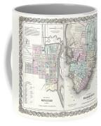 1855 Colton Plan Or Map Of Charleston South Carolina And Savannah Georgia Coffee Mug
