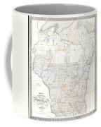 1856 Chapman Pocket Map Of Wisconsin Coffee Mug