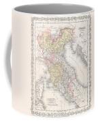 1856 Desilver Map Of Northern Italy Coffee Mug