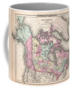 1857 Colton Map Of Canada And Alaska Coffee Mug