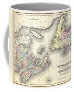 1857 Colton Map Of New Brunswick And Newfoundland Canada Coffee Mug