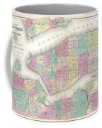 1857 Colton Map Of New York City Coffee Mug
