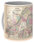 1857 Colton Map Of Quebec And New Brunswick Canada Coffee Mug