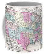 1857 Colton Map Of The United States  Coffee Mug