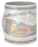1857 Colton Travellers Map Of Long Island New York Coffee Mug