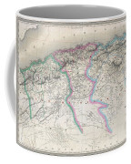 1857 Dufour Map Of Algeria Coffee Mug