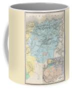 1857 Dufour Map Of Constantine Algeria Coffee Mug